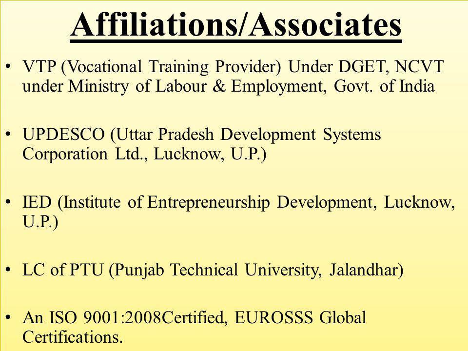 Affiliations/Associates