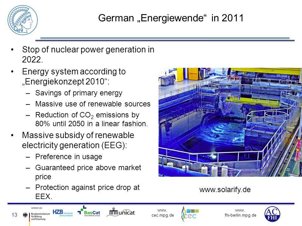 """German """"Energiewende in 2011"""