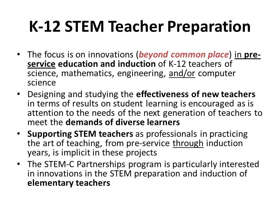 K-12 STEM Teacher Preparation