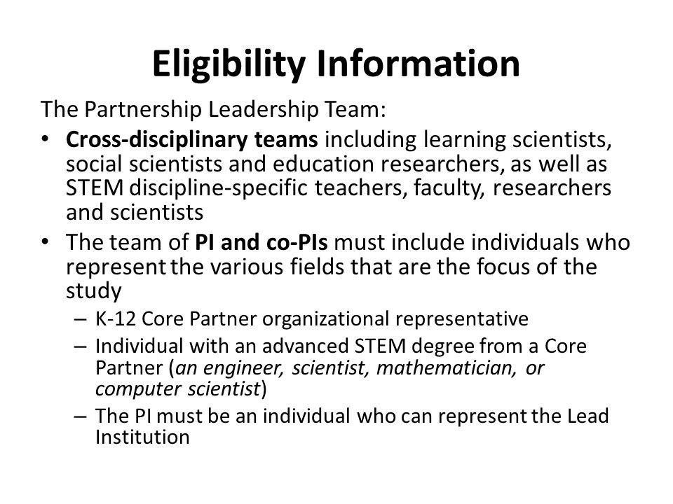 Eligibility Information