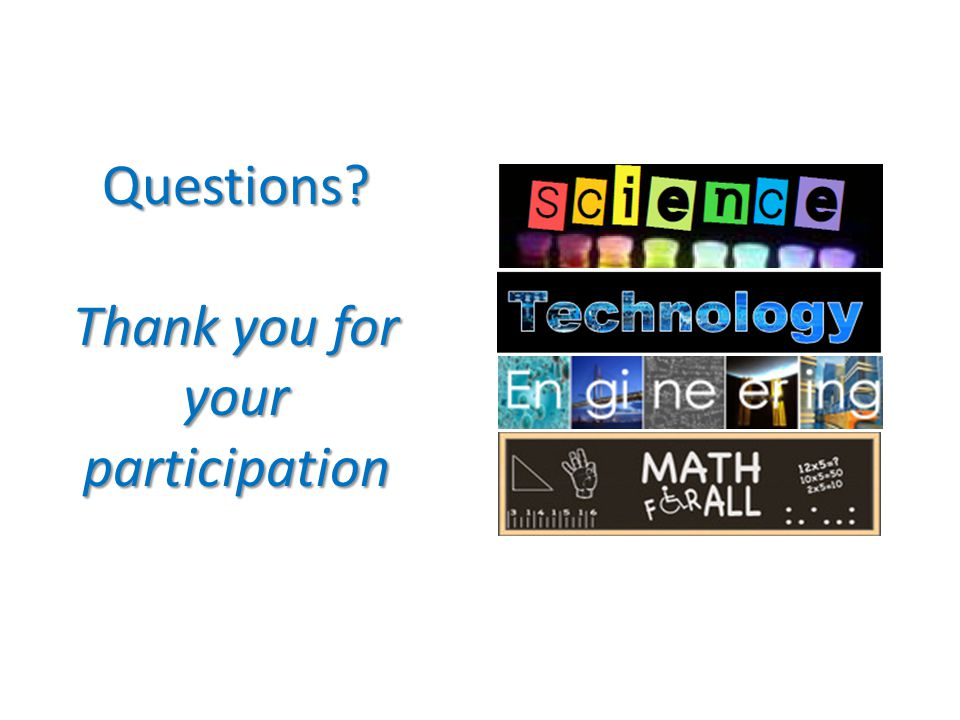 Questions Thank you for your participation