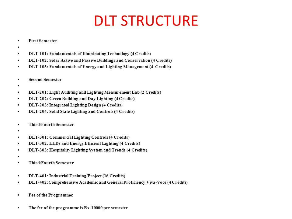 DLT STRUCTURE First Semester