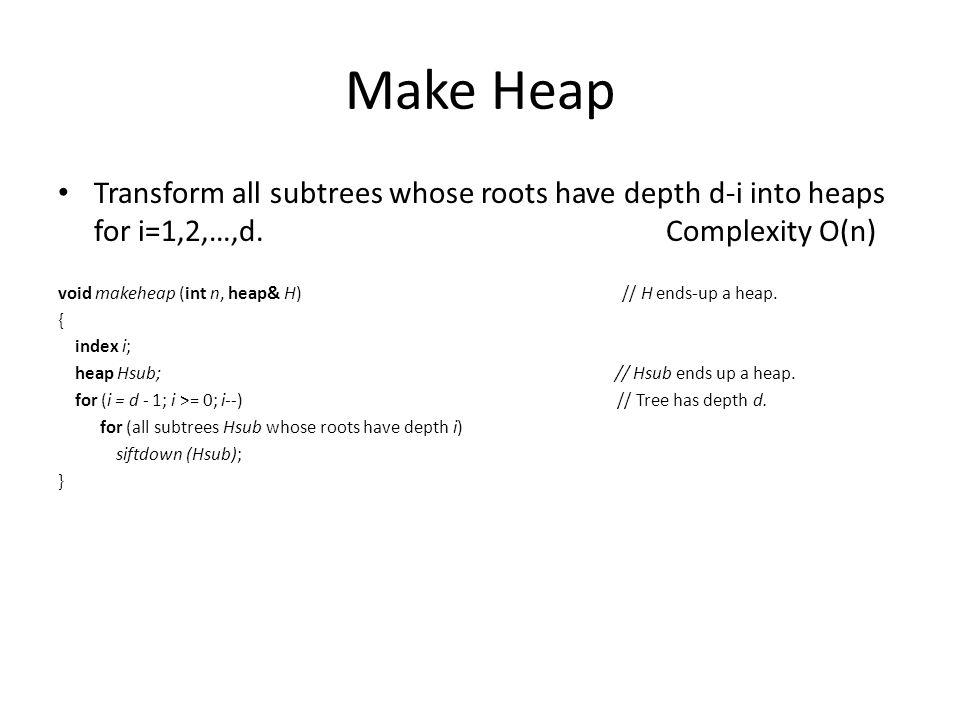 Make Heap