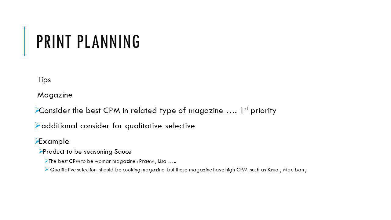 Print planning Tips Magazine