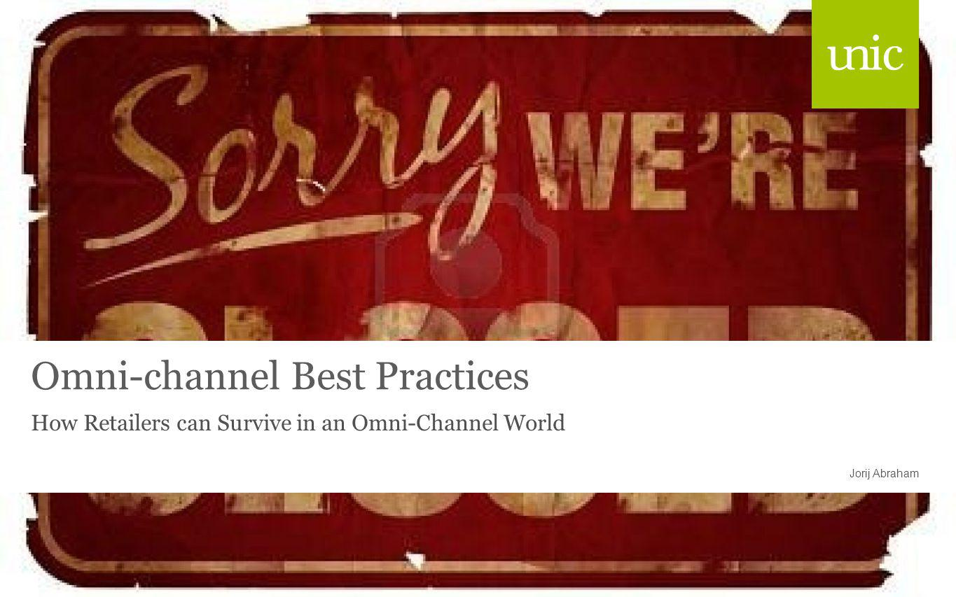 Omni-channel Best Practices