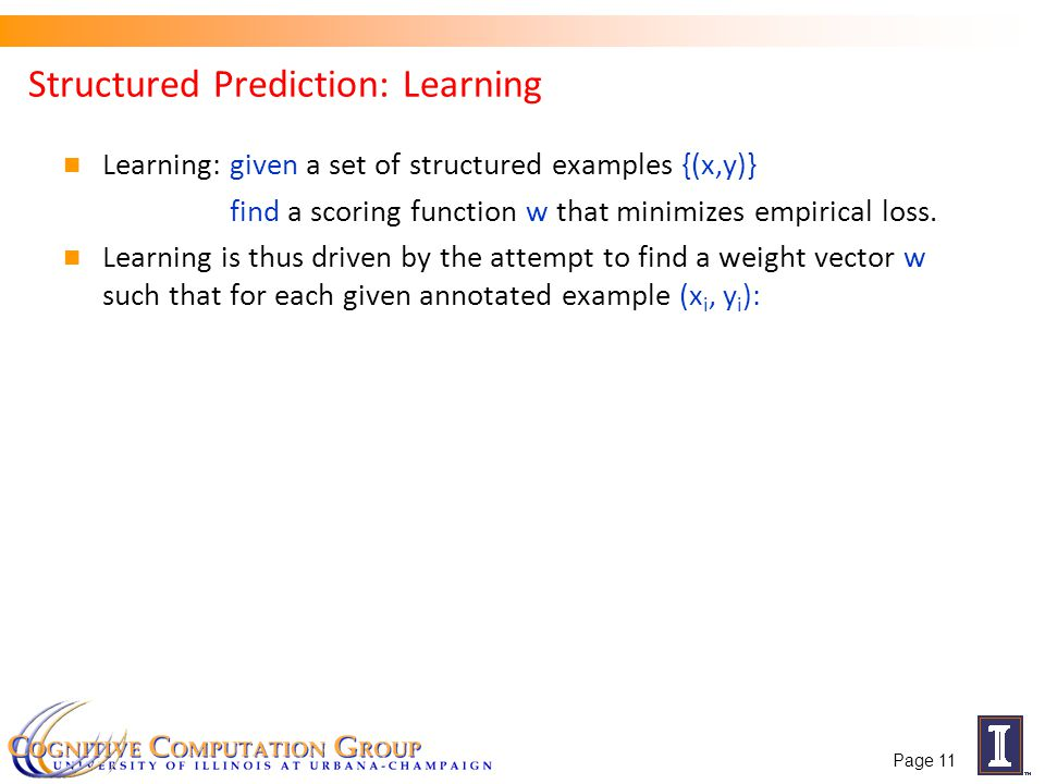 Structured Prediction: Learning