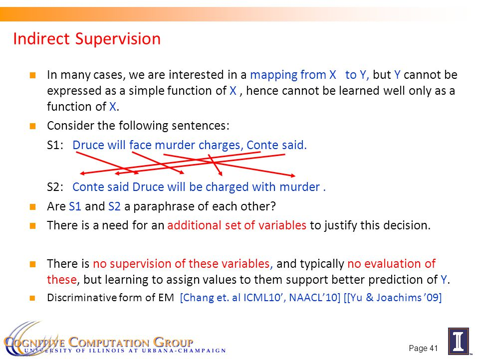Indirect Supervision