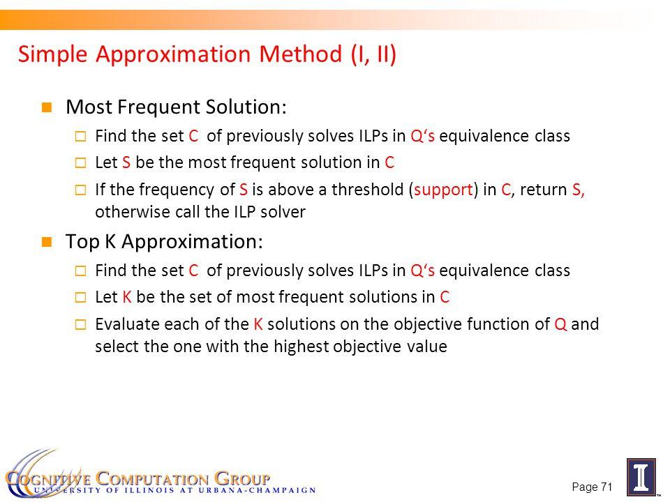 Simple Approximation Method (I, II)