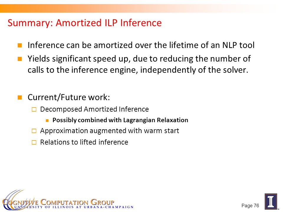Summary: Amortized ILP Inference