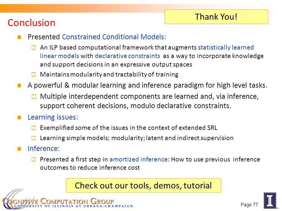 Check out our tools, demos, tutorial