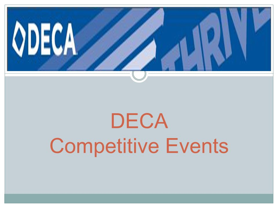 DECA Competitive Events