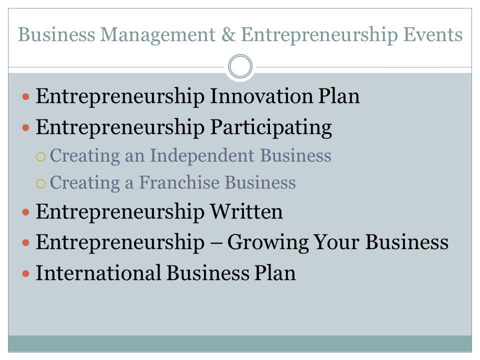 Business Management & Entrepreneurship Events