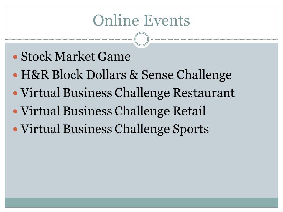 Online Events Stock Market Game H&R Block Dollars & Sense Challenge