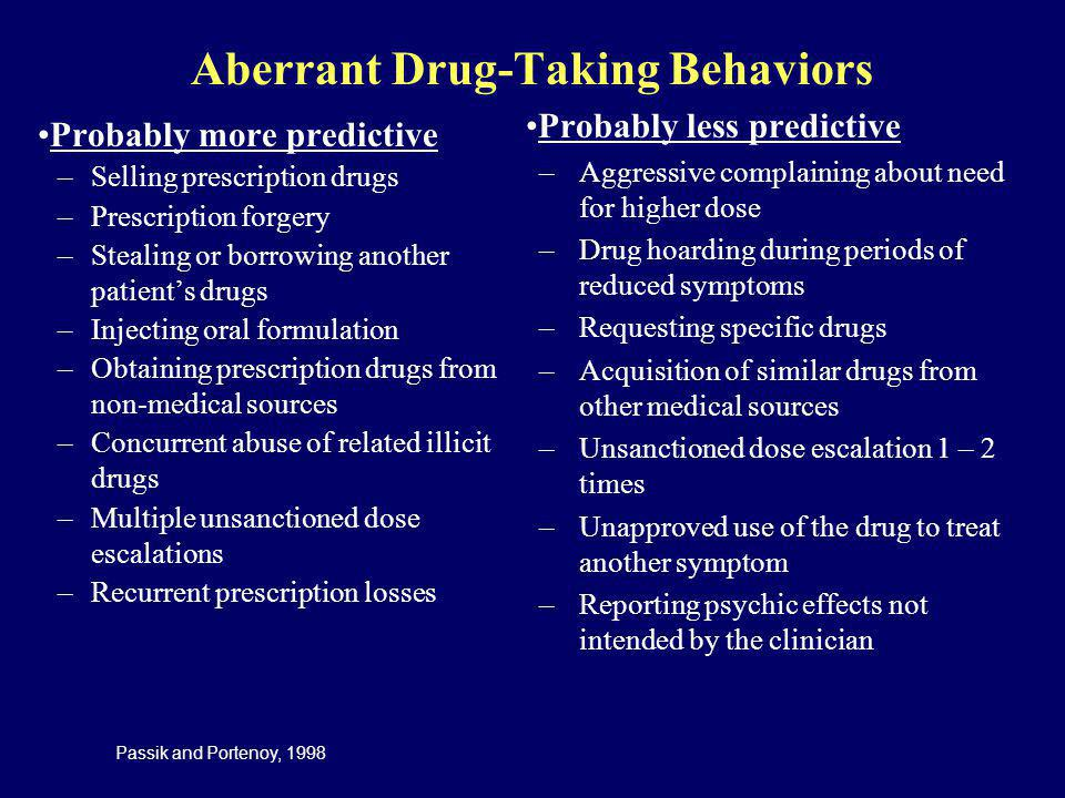 Aberrant Drug-Taking Behaviors