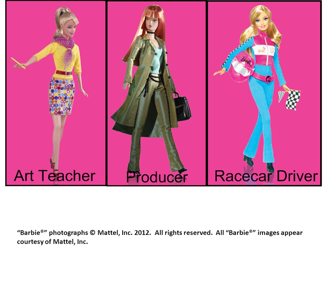 Barbie® photographs © Mattel, Inc. 2012. All rights reserved