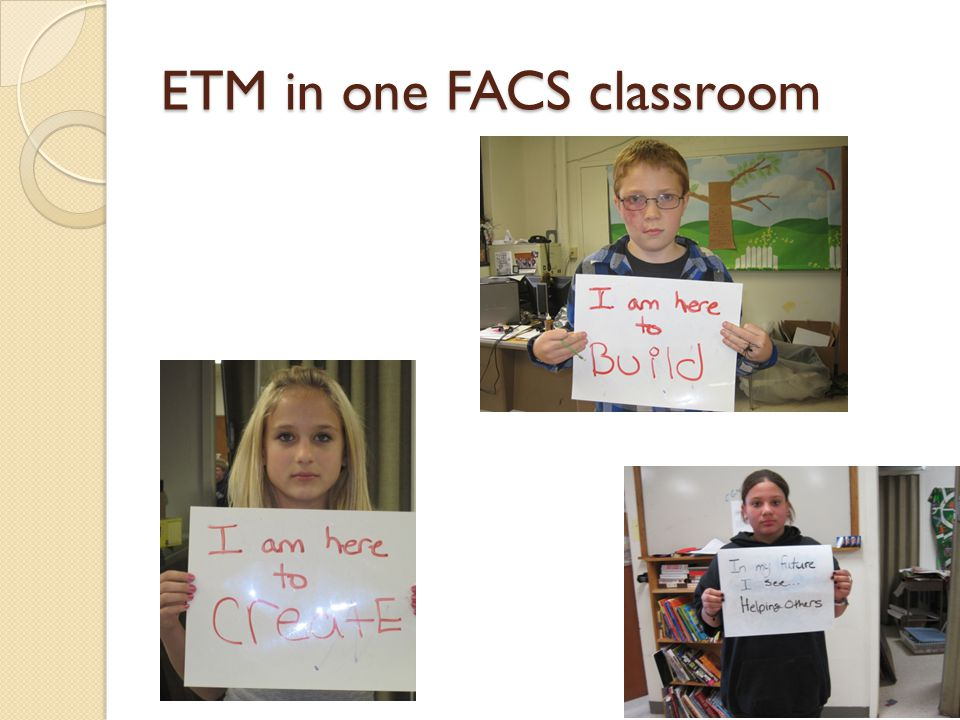 ETM in one FACS classroom