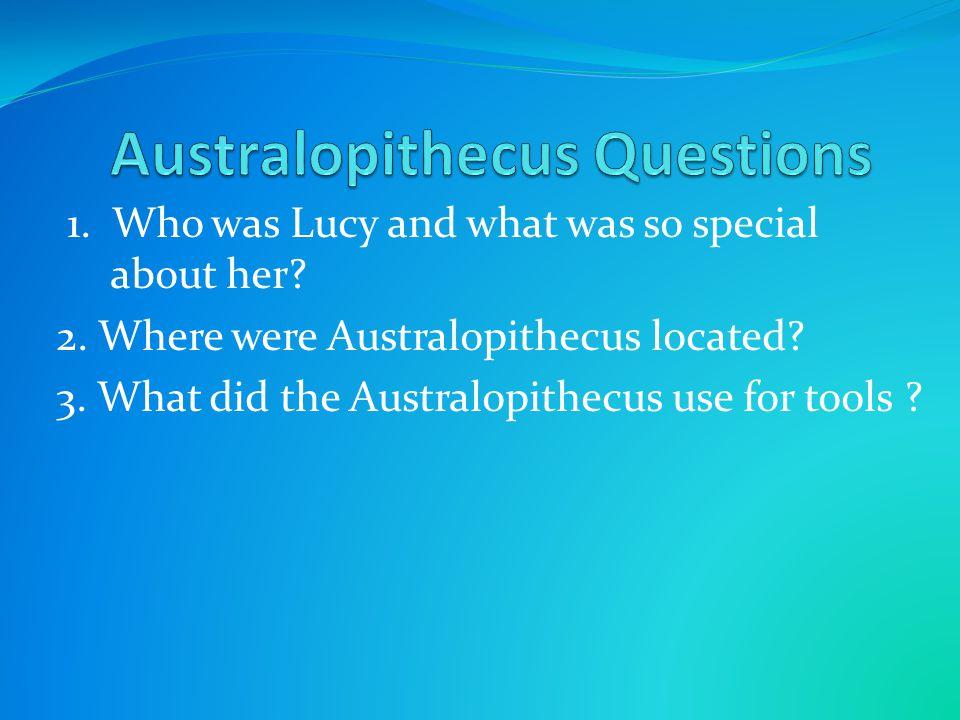 Australopithecus Questions