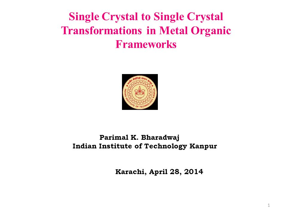 Single Crystal to Single Crystal Transformations in Metal Organic Frameworks