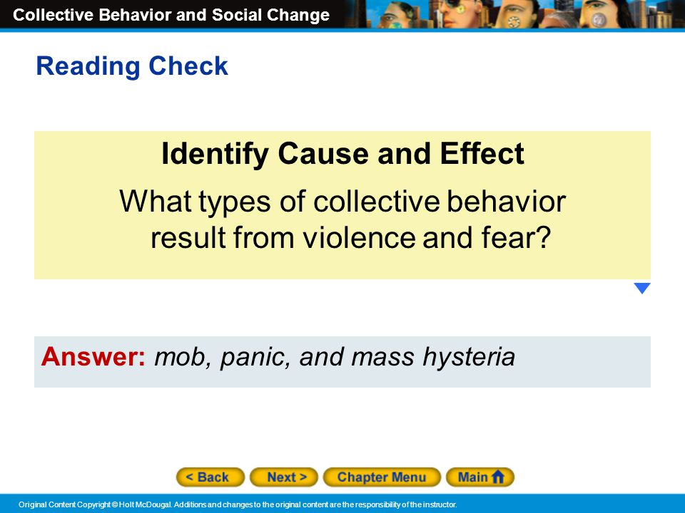 Identify Cause and Effect