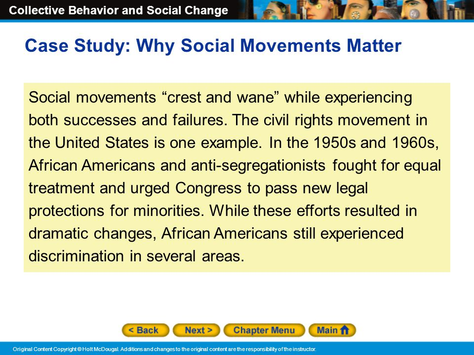Case Study: Why Social Movements Matter