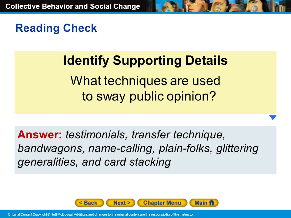 Identify Supporting Details