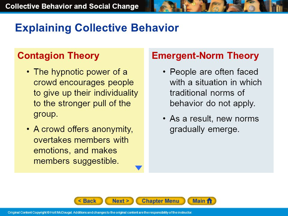 Explaining Collective Behavior