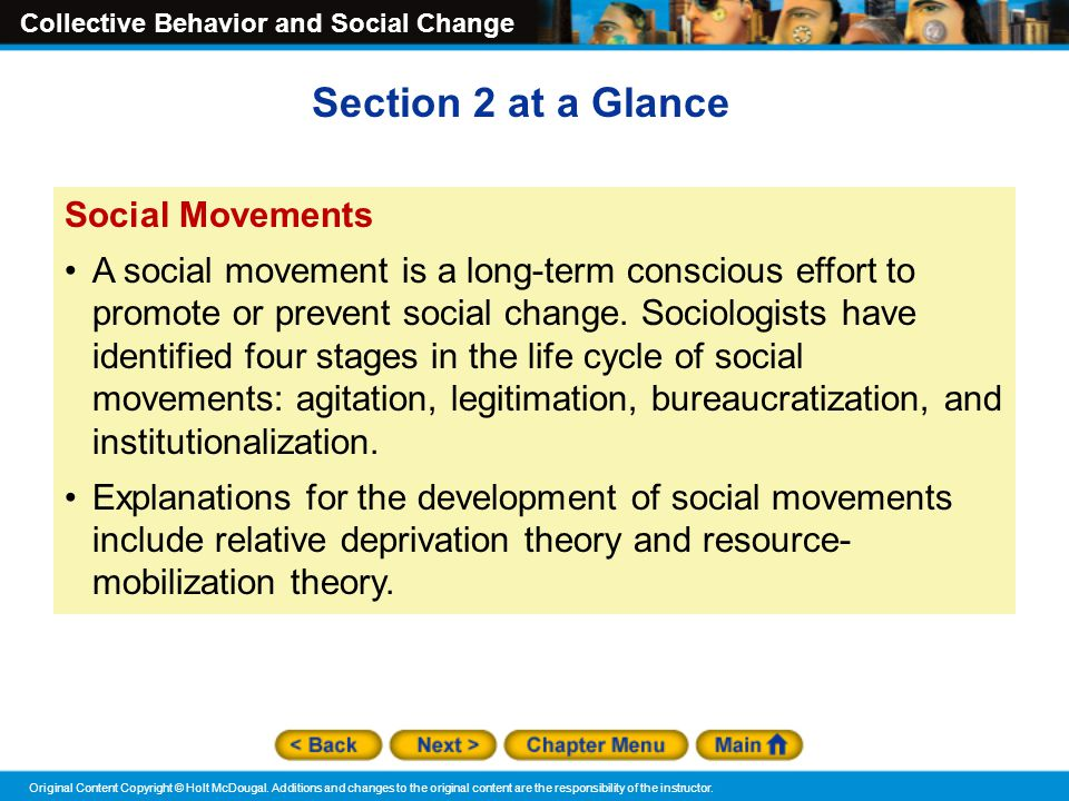 Section 2 at a Glance Social Movements