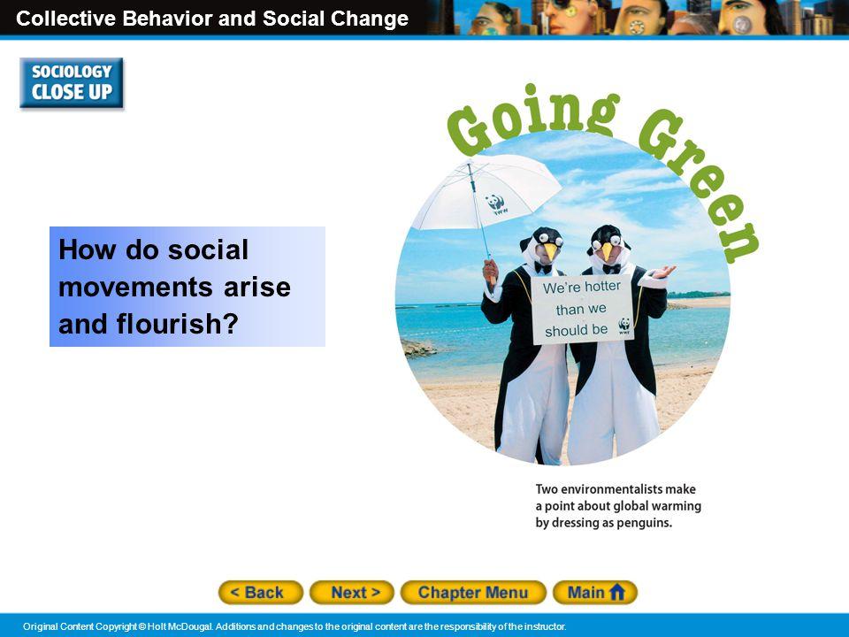 How do social movements arise and flourish