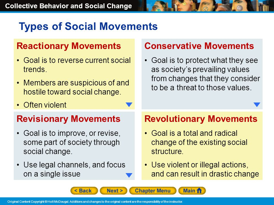 Social movements and trends