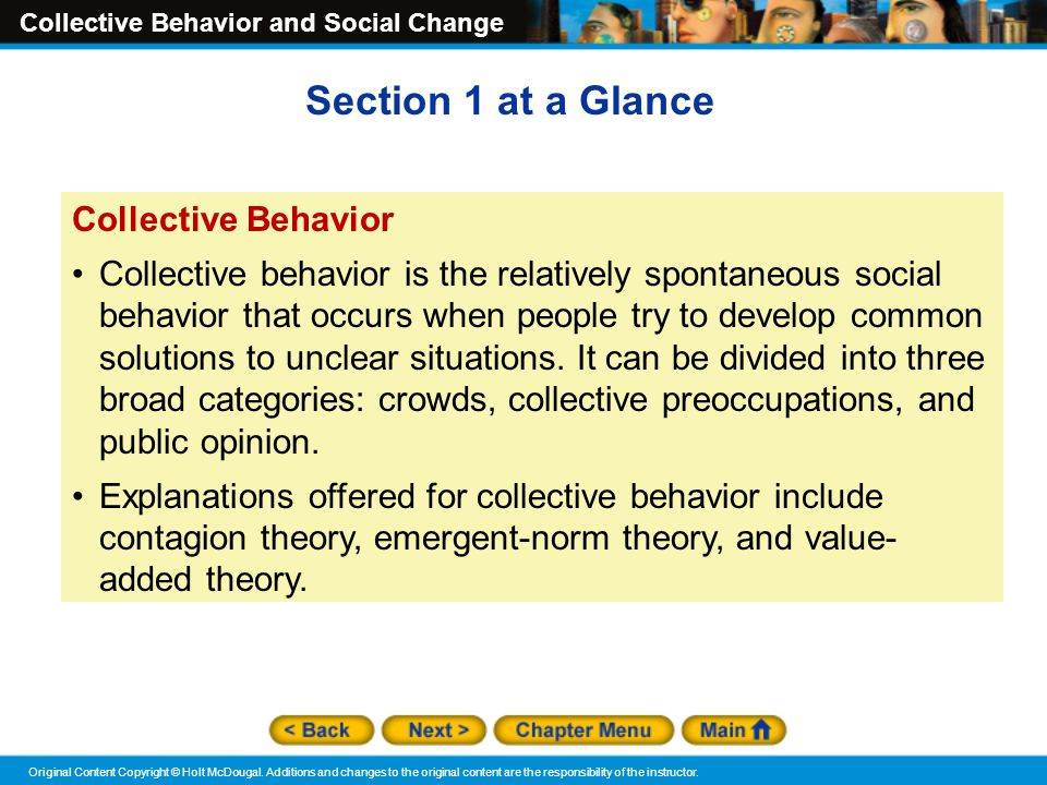 collective behavior theories Propinquity needs, functions and goals interaction balance theory exchange theory collective behavior is the property of its rightful owner.