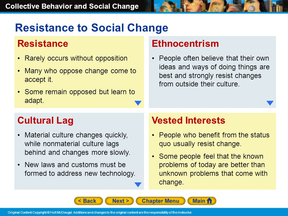 Resistance to Social Change