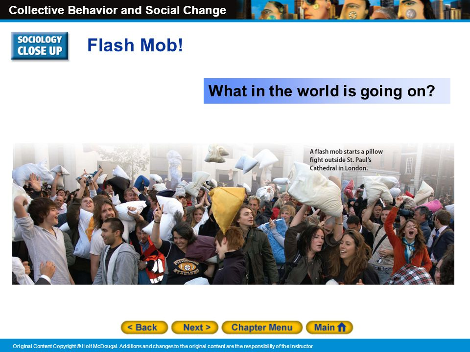 Flash Mob! What in the world is going on