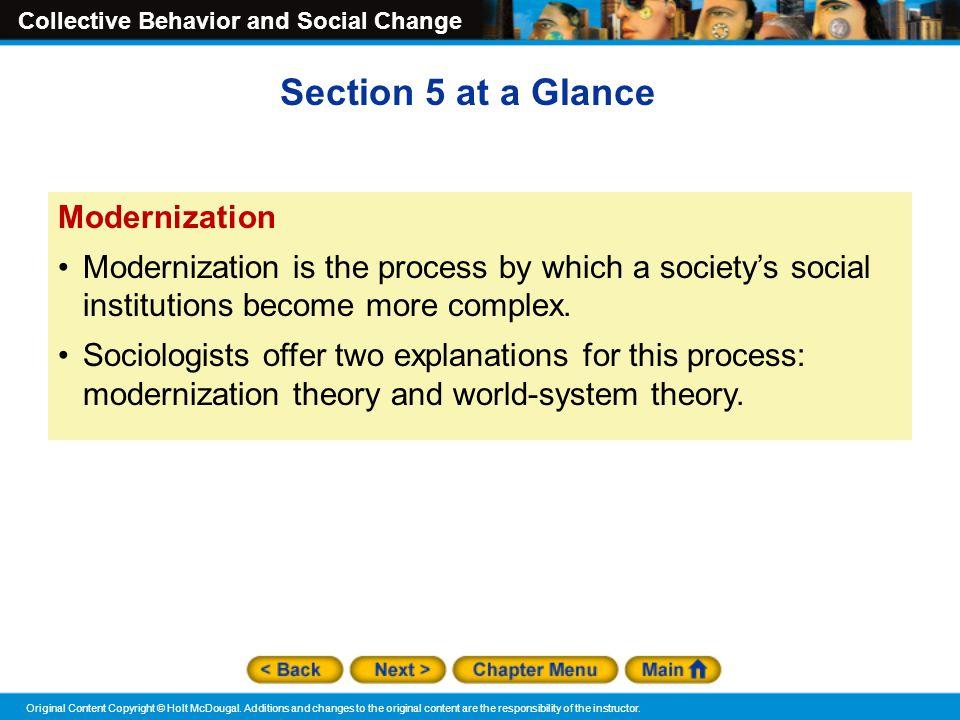 Section 5 at a Glance Modernization