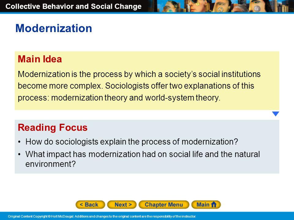 Modernization Main Idea Reading Focus