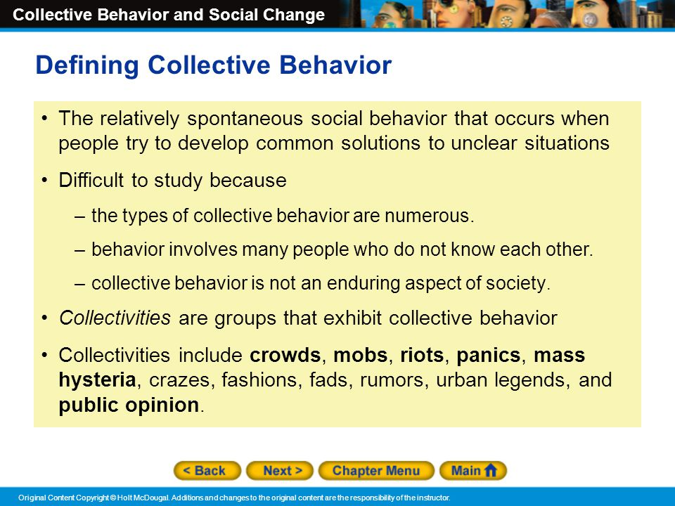 Defining Collective Behavior