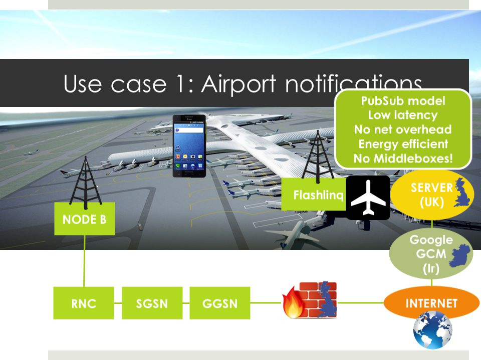 Use case 1: Airport notifications