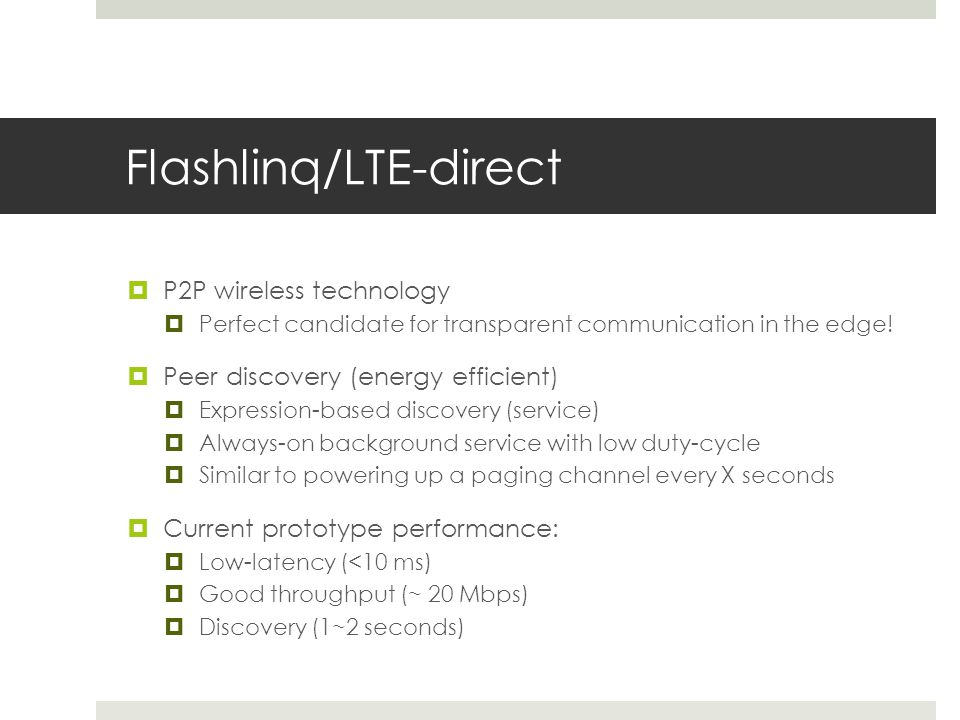 Flashlinq/LTE-direct