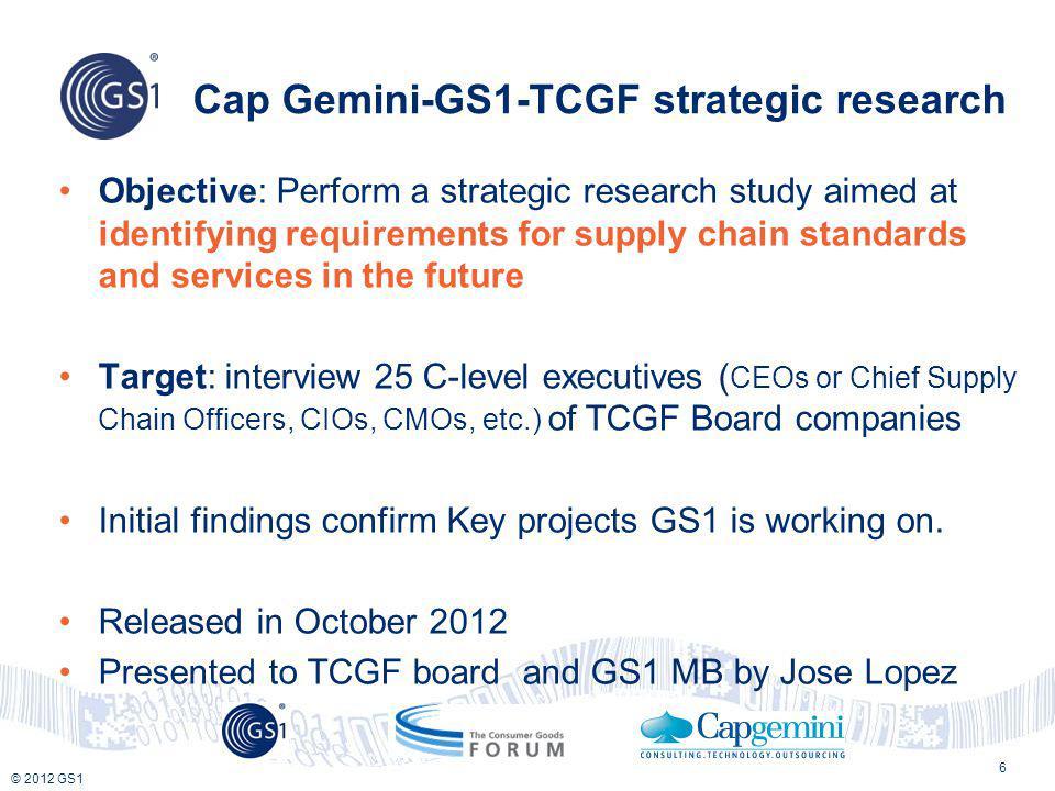 Cap Gemini-GS1-TCGF strategic research