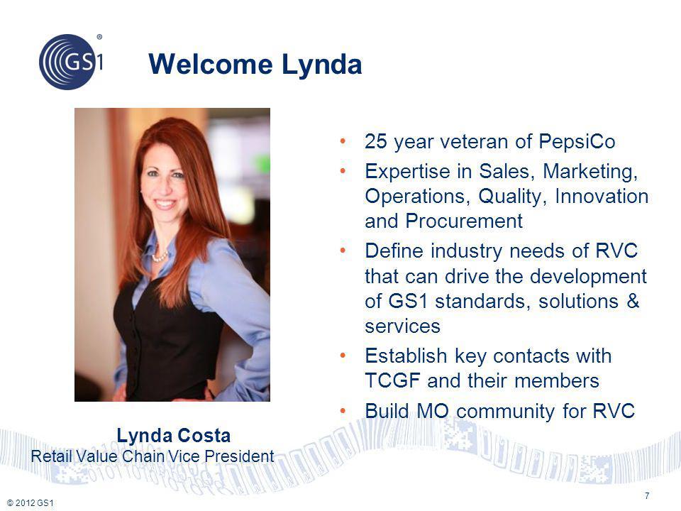 Welcome Lynda 25 year veteran of PepsiCo