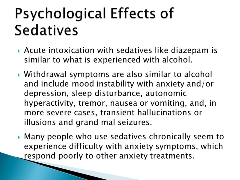 Psychological Effects of Sedatives