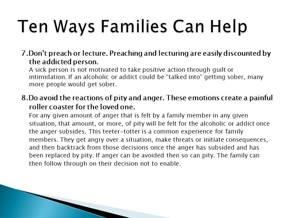 Ten Ways Families Can Help