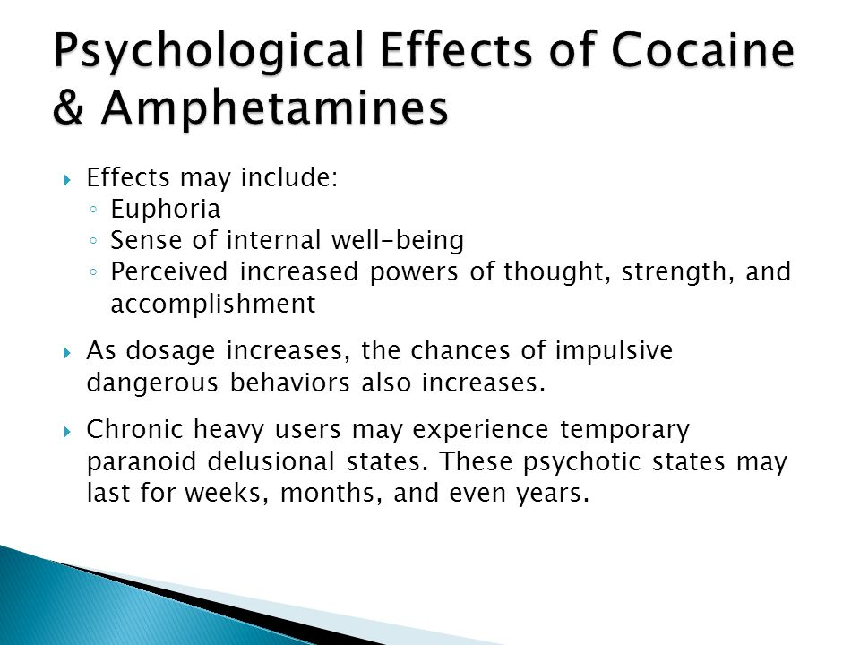 Psychological Effects of Cocaine & Amphetamines