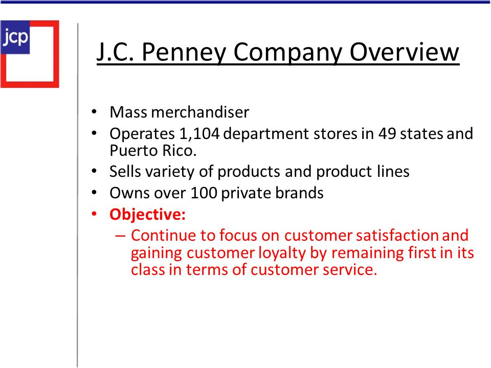 J.C. Penney Company Overview