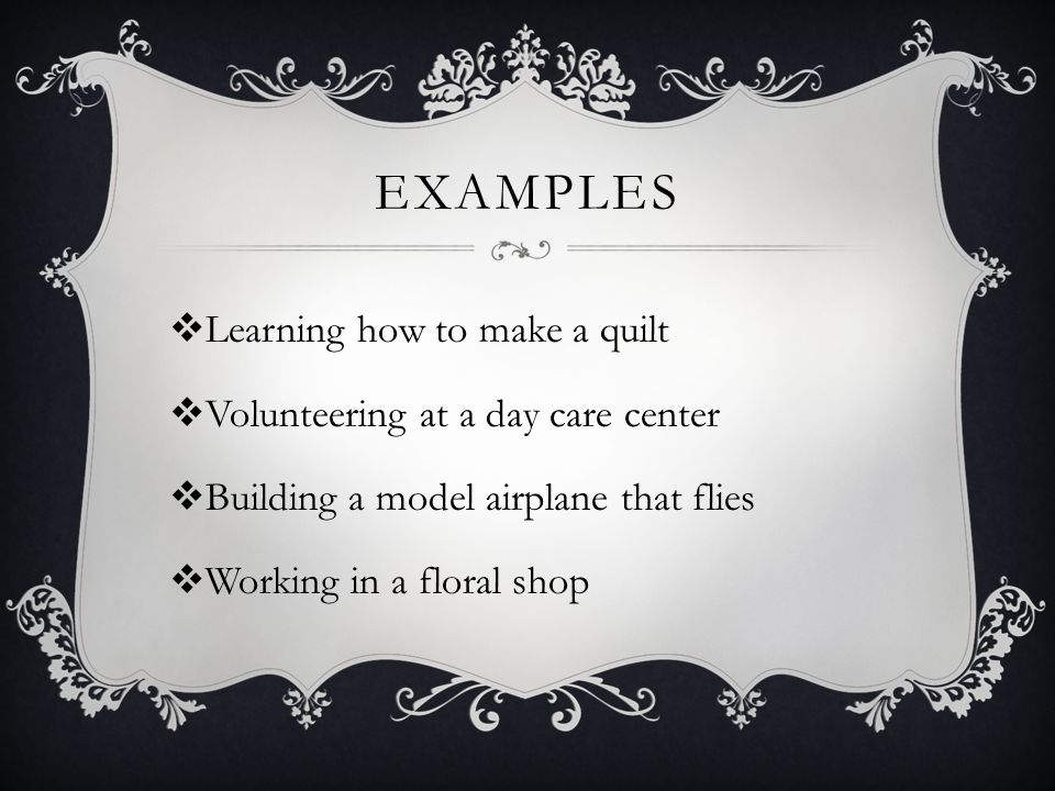 Examples Learning how to make a quilt