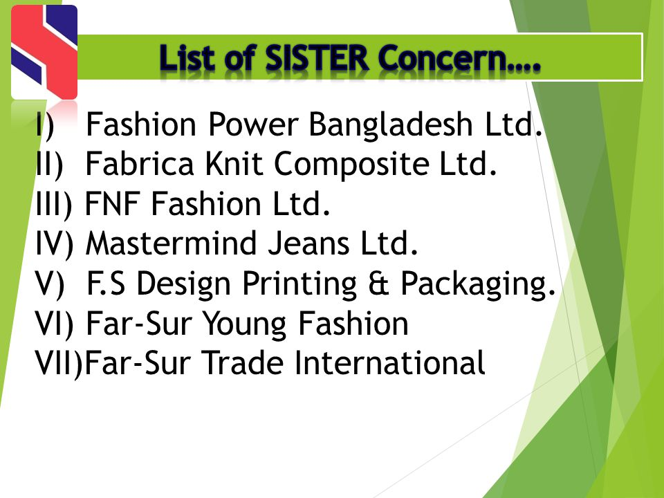 List of SISTER Concern….