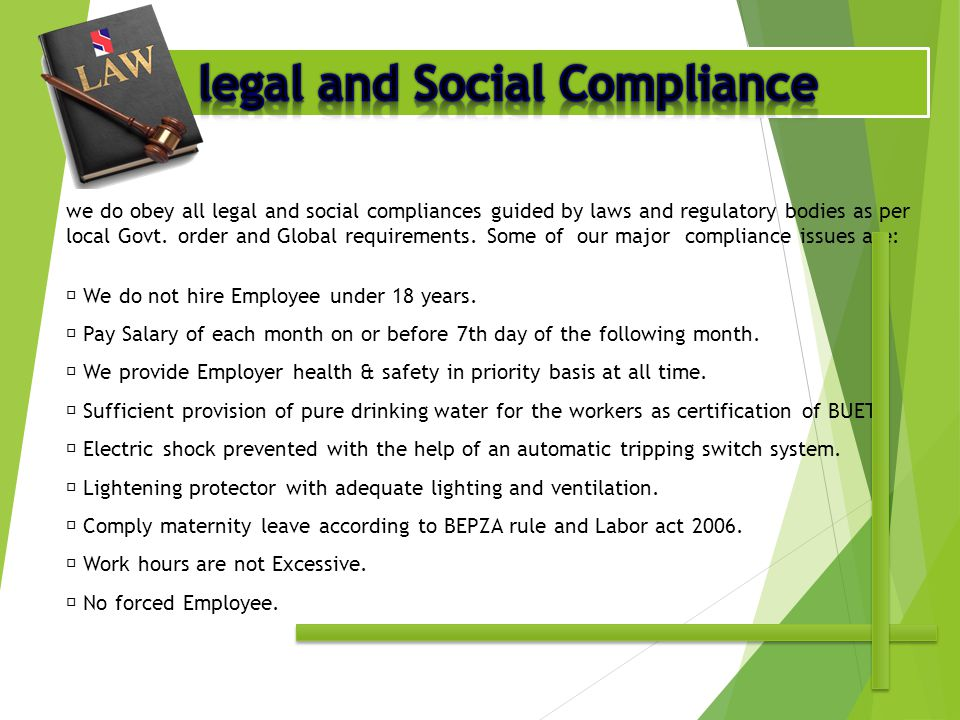 legal and Social Compliance