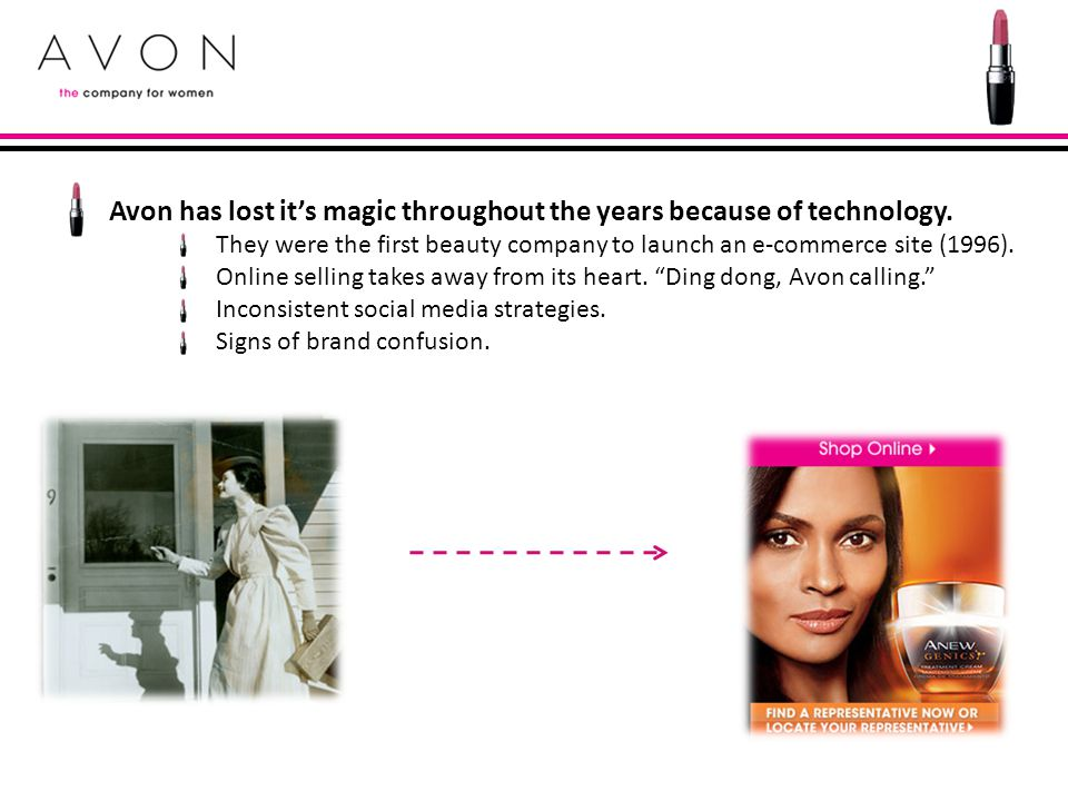 Avon has lost it's magic throughout the years because of technology.