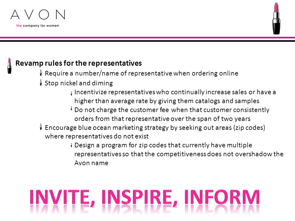 Invite, Inspire, Inform Revamp rules for the representatives