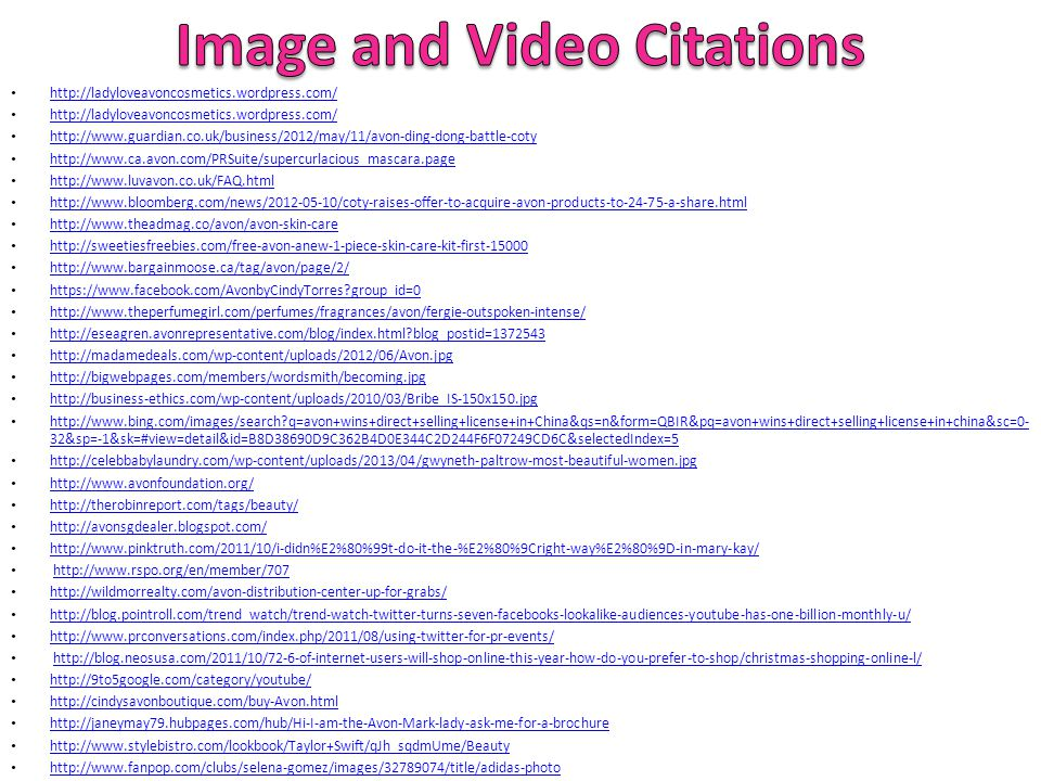 Image and Video Citations