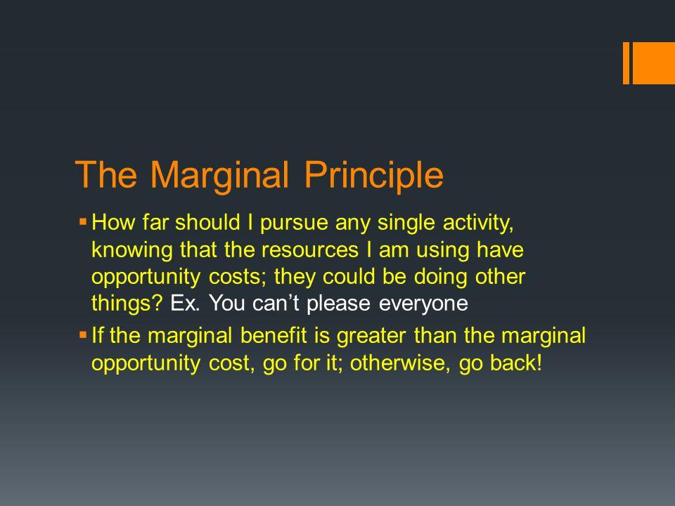 The Marginal Principle